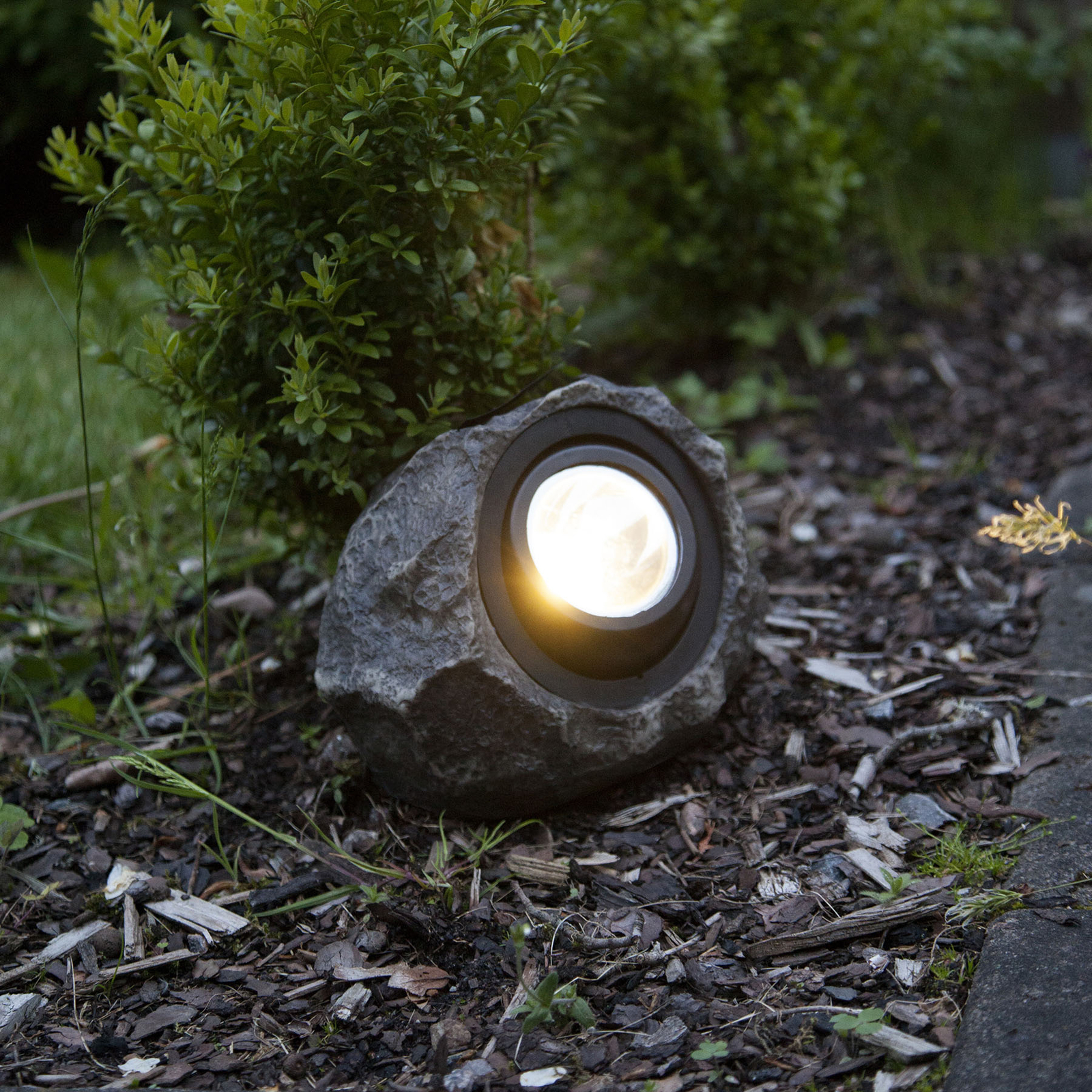 LED-solcellelampe Rocky, justerbar