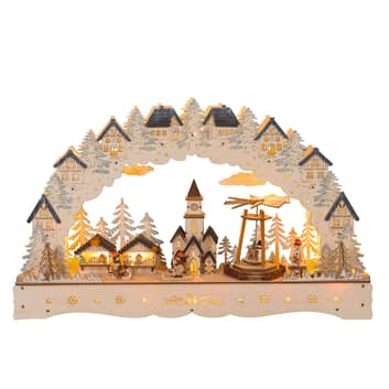 LED-adventsstake Julemarked, pyramide dreibar