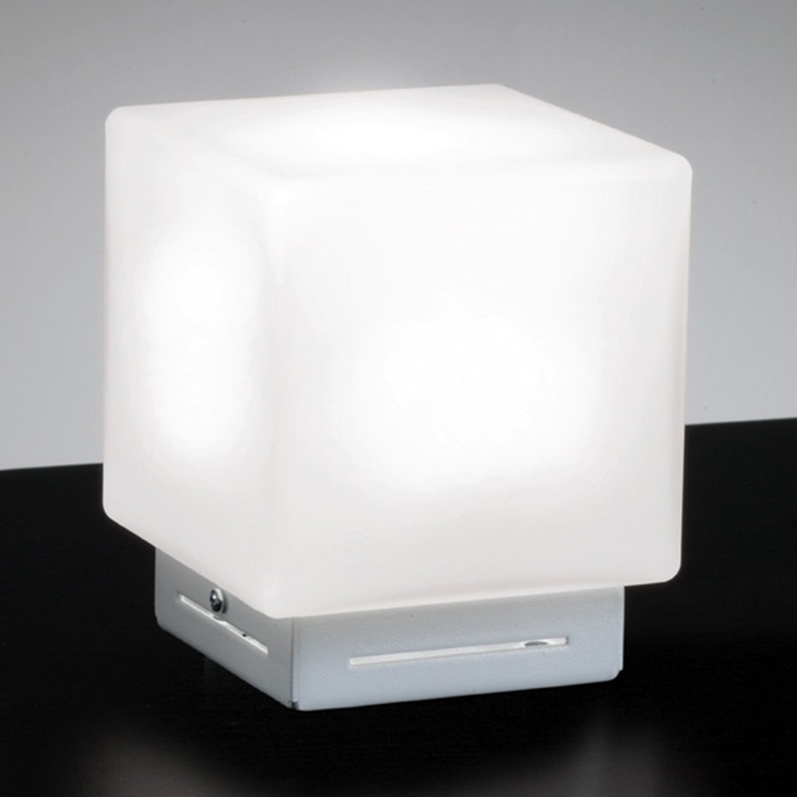 Stolní lampa Cubis, bílá