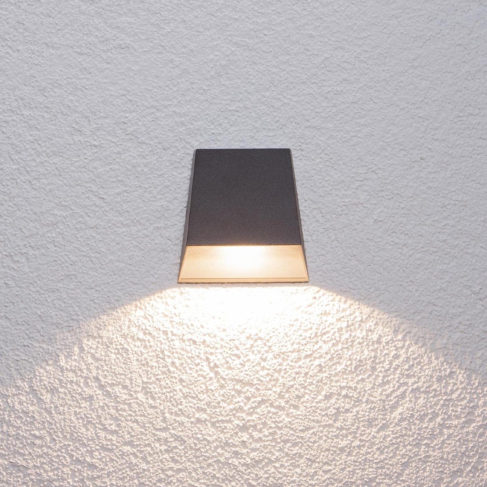 Bredstrålet Hanno utendørs LED-vegglampe
