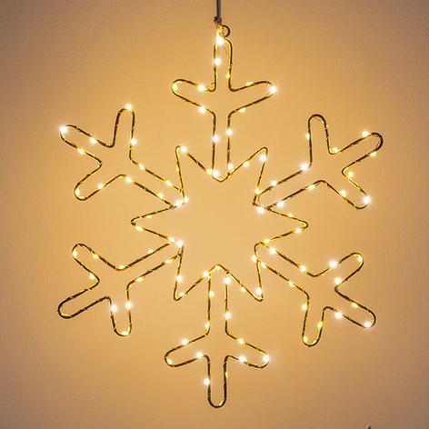 Lampe décorative LED Flocon de neige doré