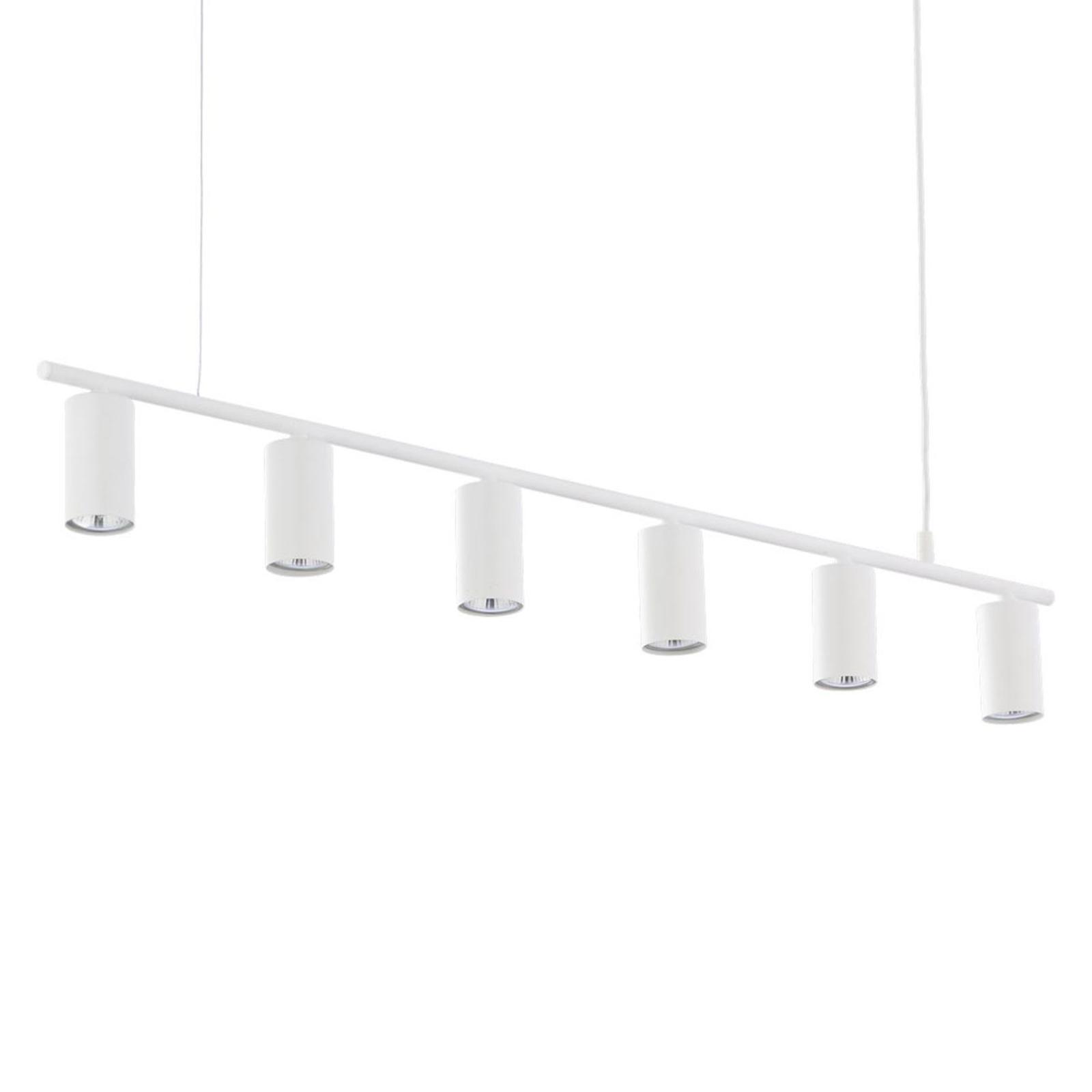 Hanglamp Logan, 6-lamps, wit