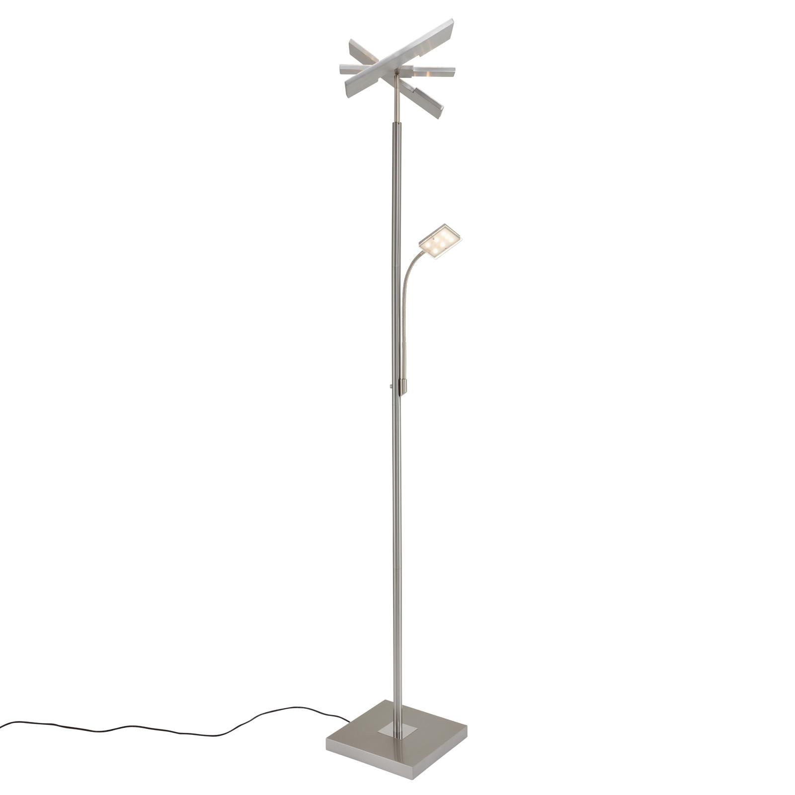 LED uplighter Floor 1328-022 hoekig, met leesarm