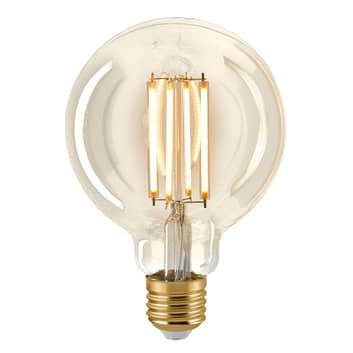 LED žárovka E27 G95 4,5W filament globe zlatá