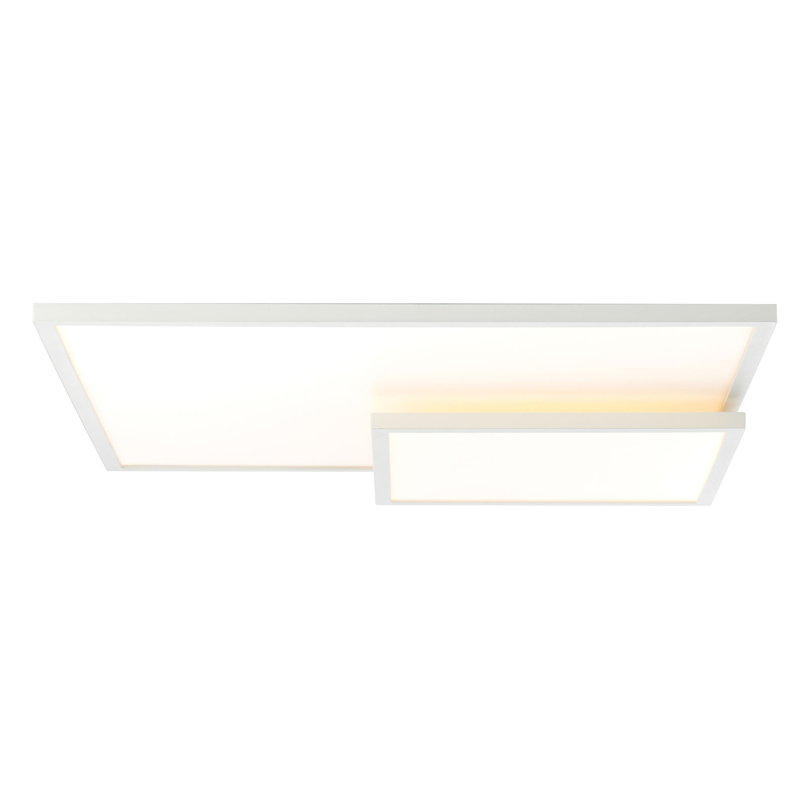 Plafonnier LED Bility, longueur 62cm cadre blanc