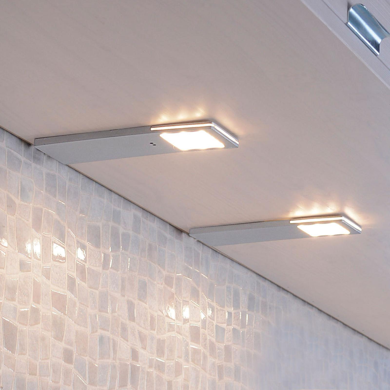 2 lampes sous meuble capteur Helena 19x6,6cm 3000K