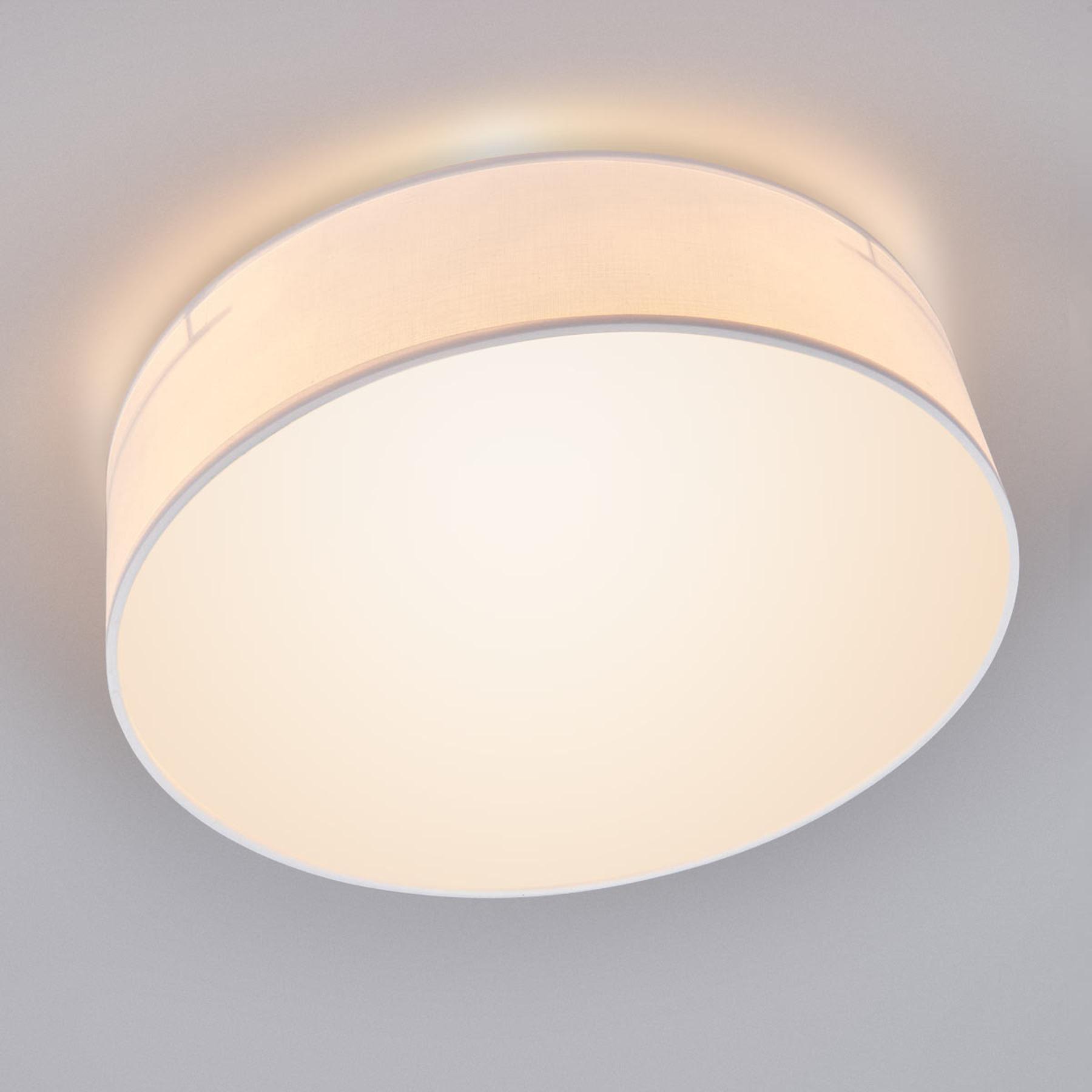 Witte textiel-plafondlamp Ceiling Dream 40 cm