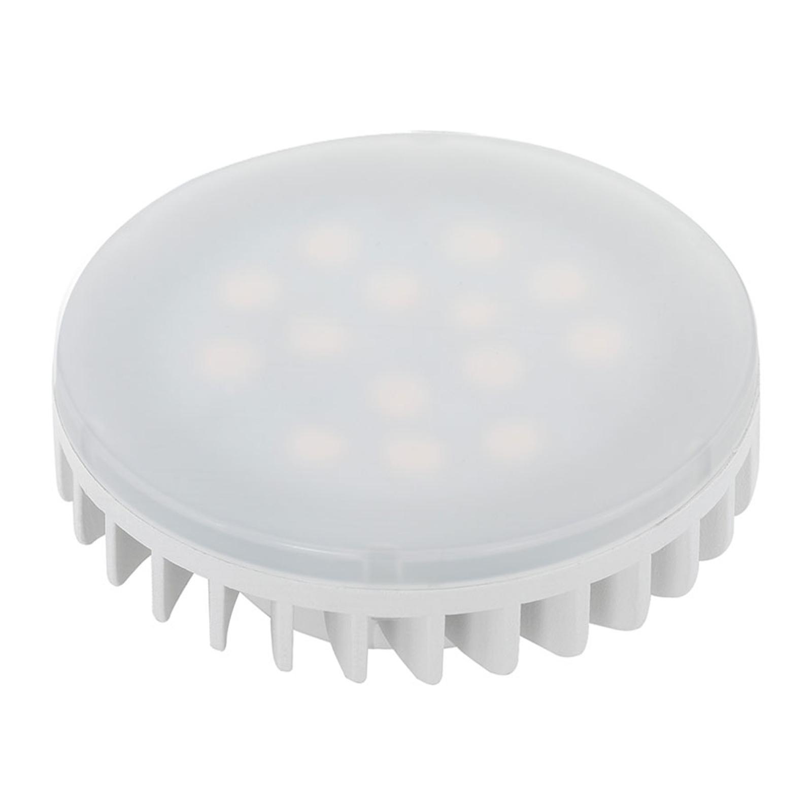 LED-Lampe GX53 6W, warmweiß, matt