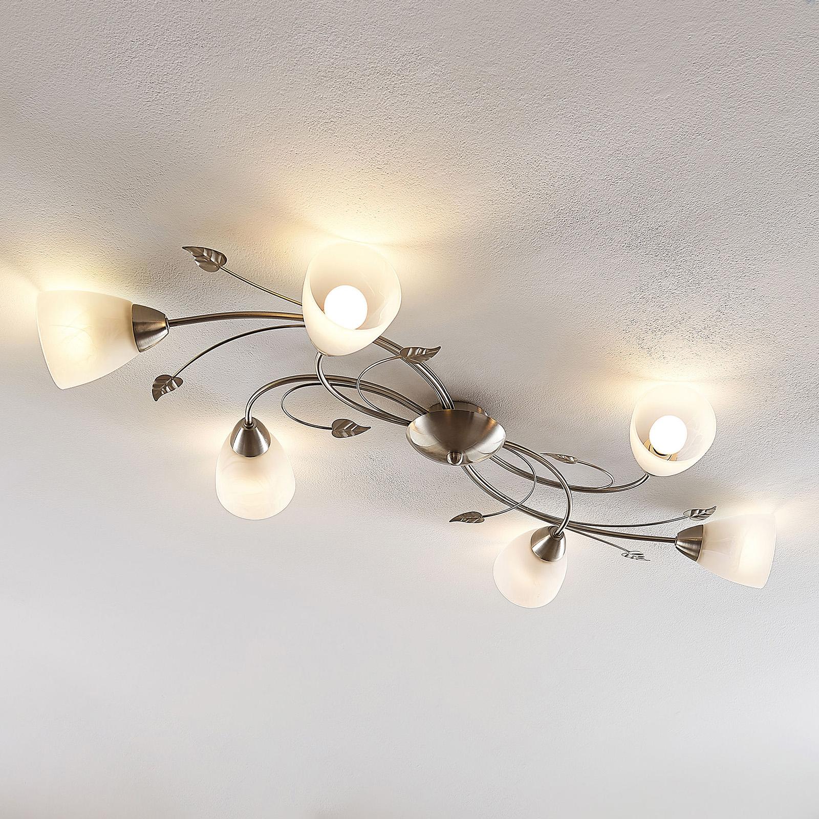 Lindby Yannie LED-taklampe, seks lyskilder