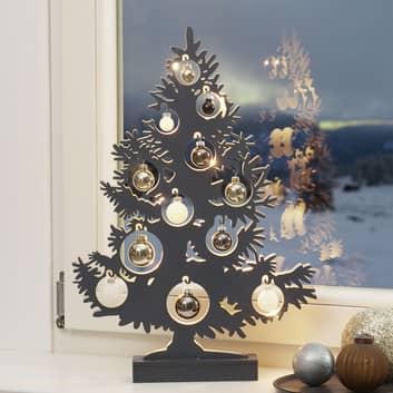Juletre LED-dekorasjonsbelysning antrasitt
