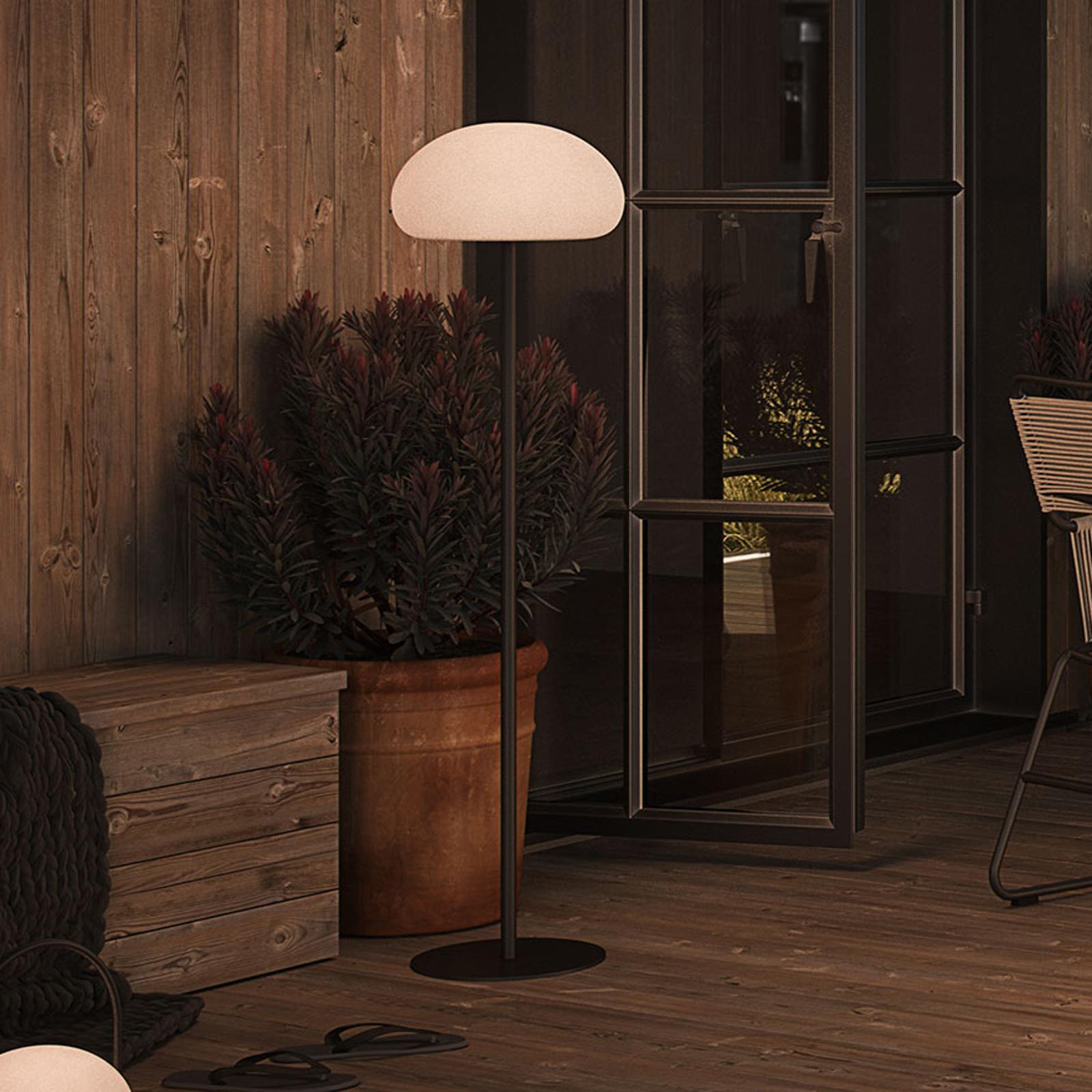 LED stojací lampa Sponge floor na terasu