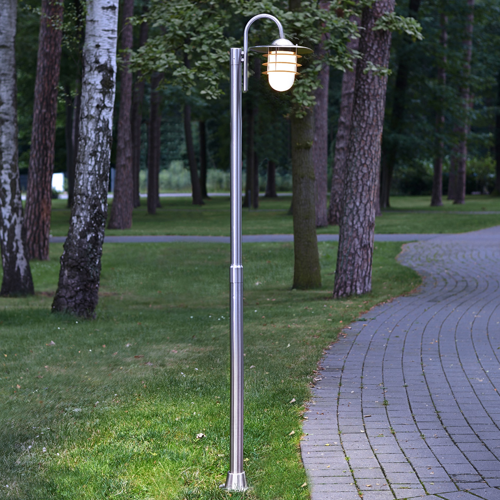 Mian Curved Mast Lamp Made of Stainless Steel_9960027_1