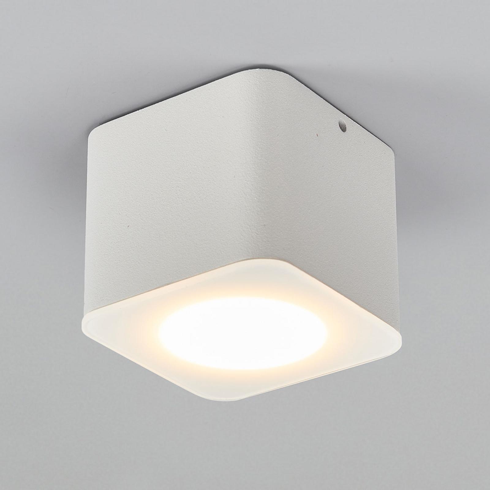 Helestra Oso LED ceiling spot, angular, matt white_4516444_1