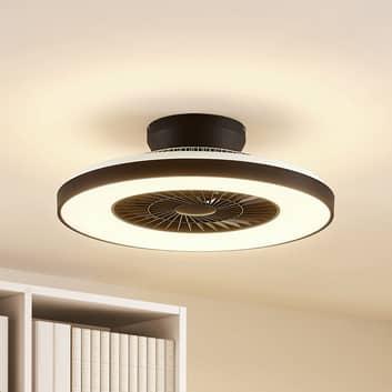 Lindby Orligo LED-loftventilator, mat sort