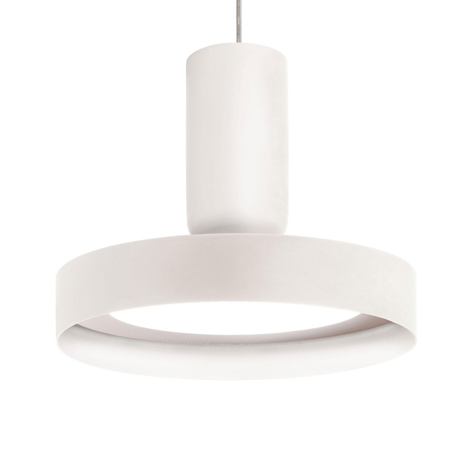Modo Luce Hammer lampa wisząca Ø 18 cm biała