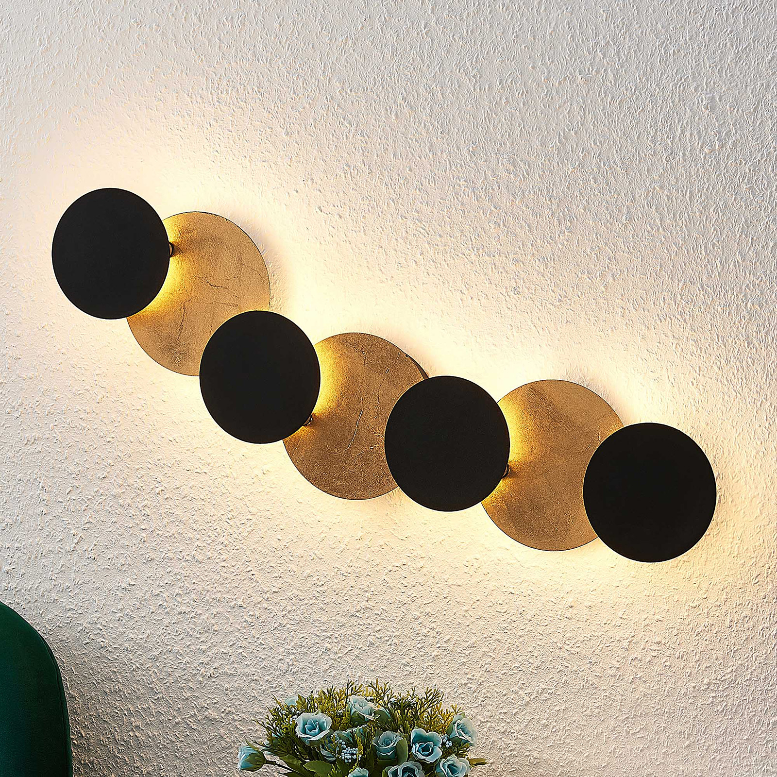 Lindby Grazyna applique LED a 7 luci