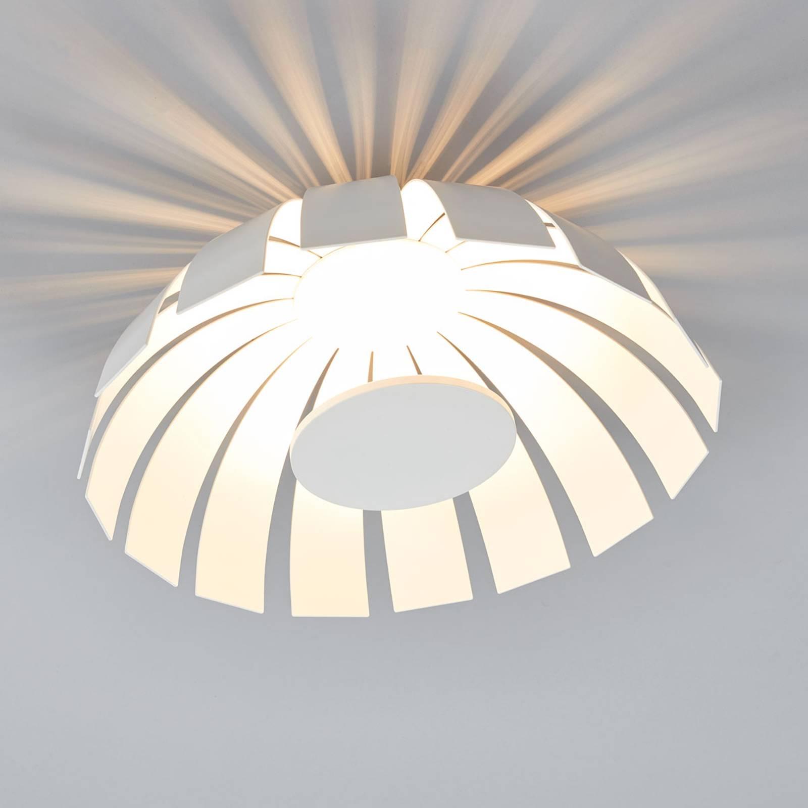 Witte LED design plafondlamp Loto, 33 cm