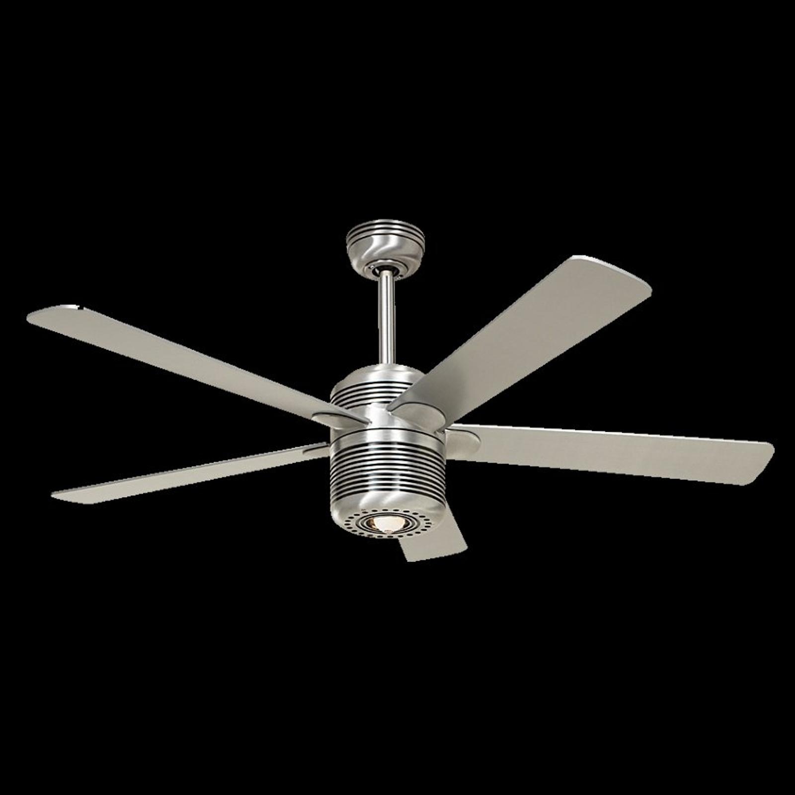 Ventilateur de plafond lumineux Alu