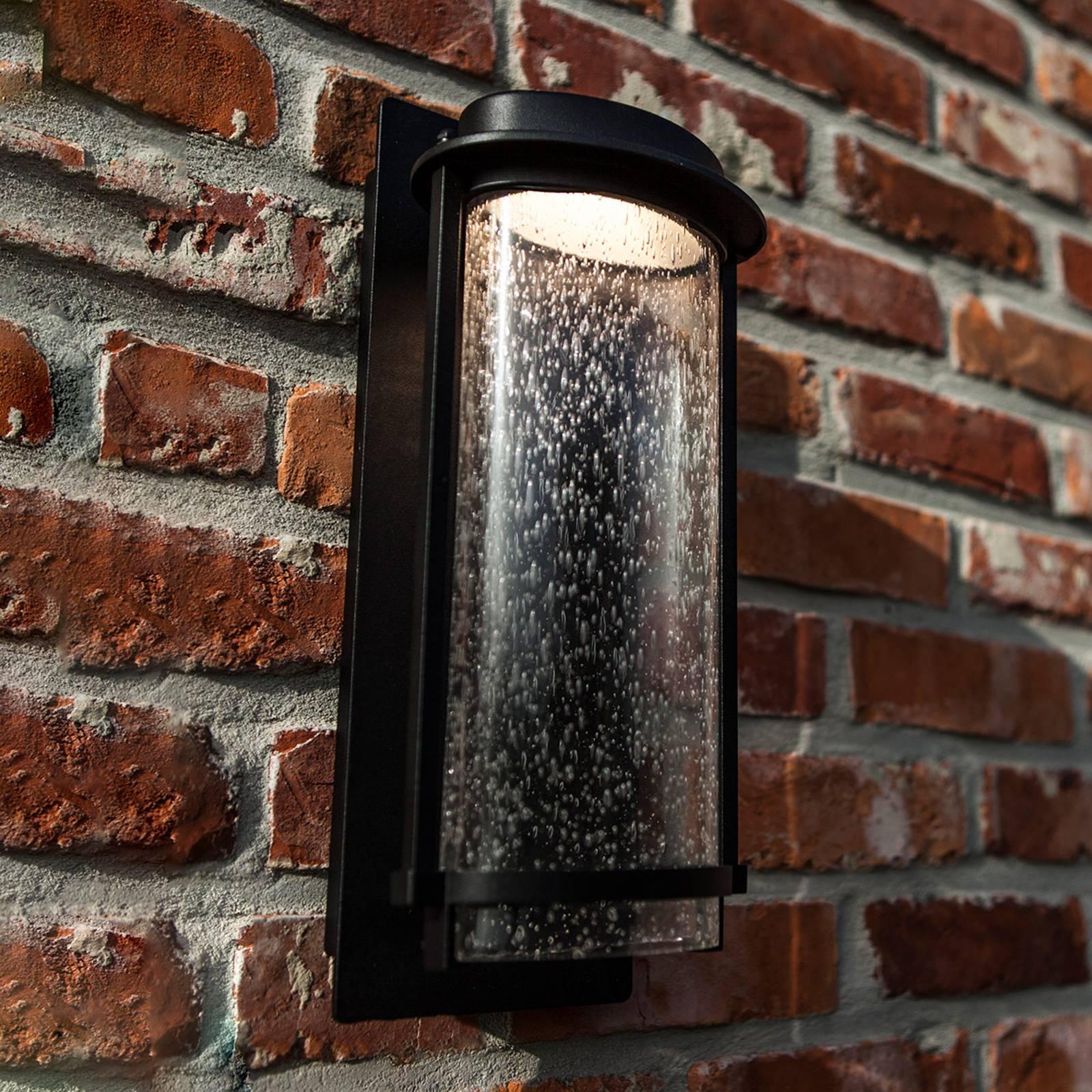 LED buitenwandlamp Aquarius met luchtinsluitingen