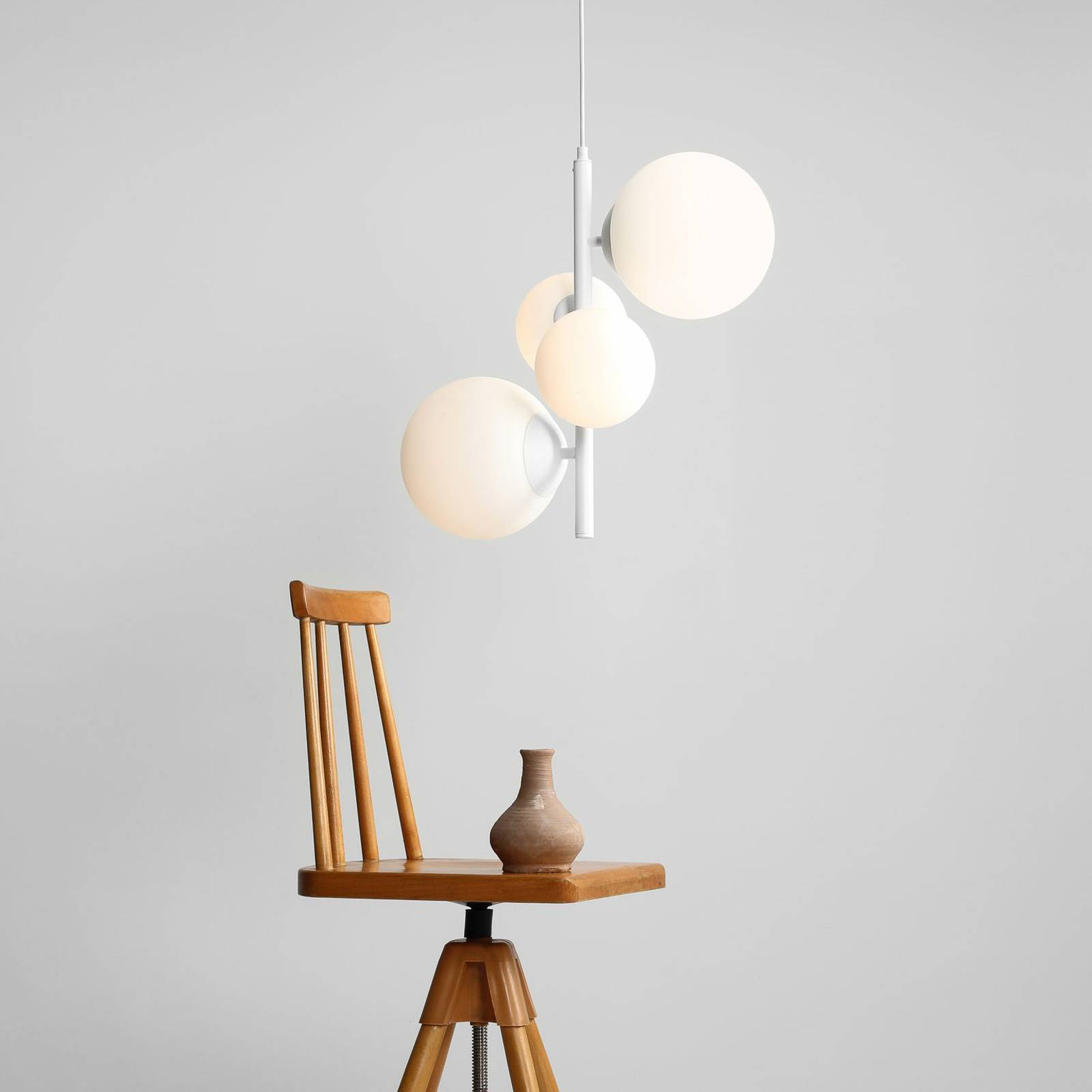 Hanglamp Bloom, 4-lamps, wit