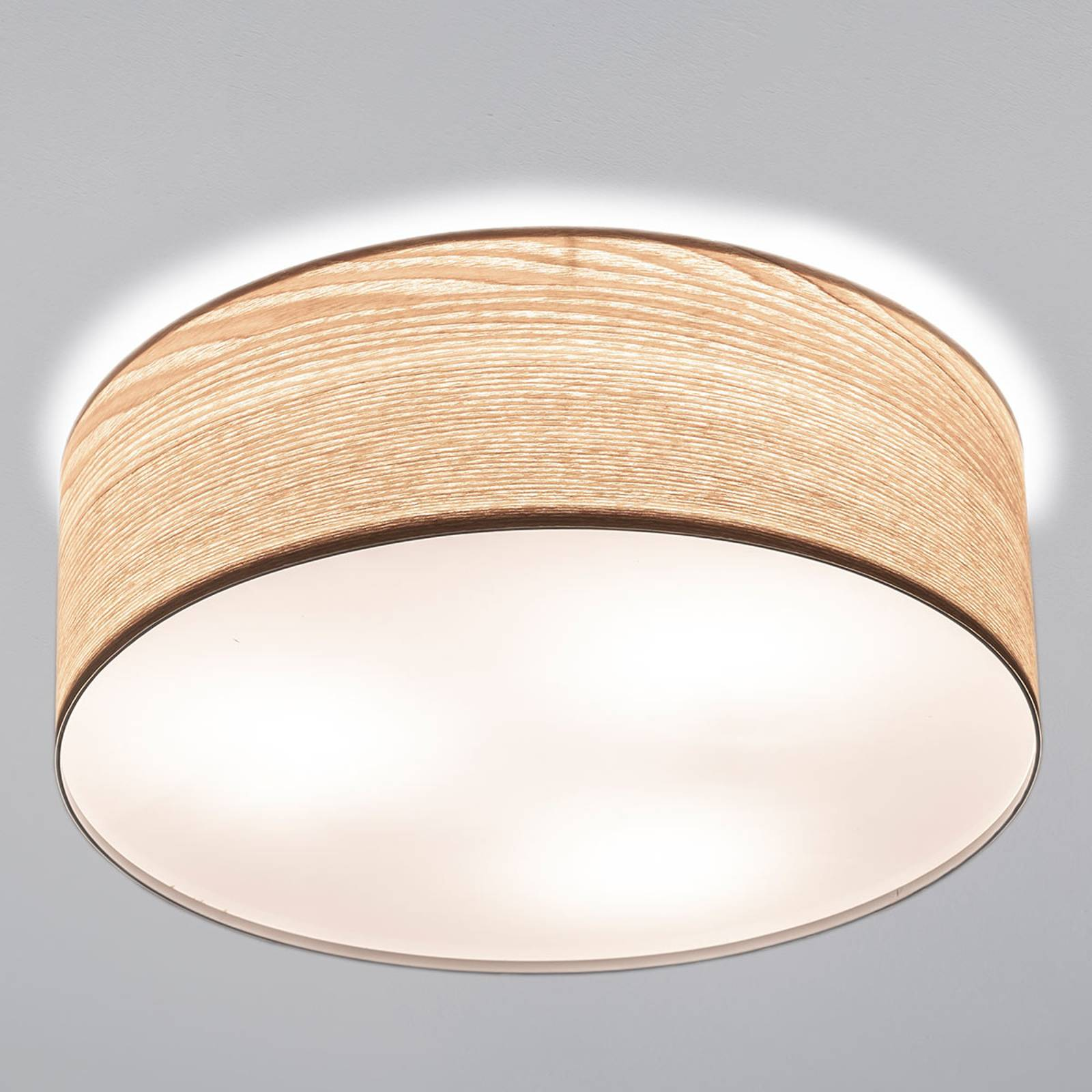 Chique plafondlamp Liska in licht houten design