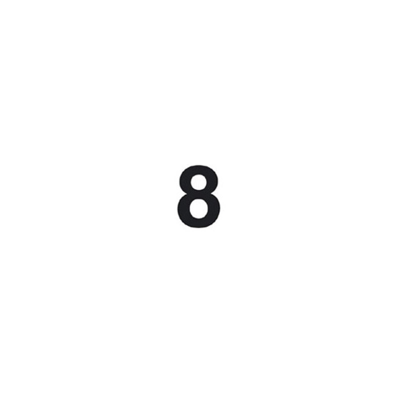 Cifra autoadesiva 8