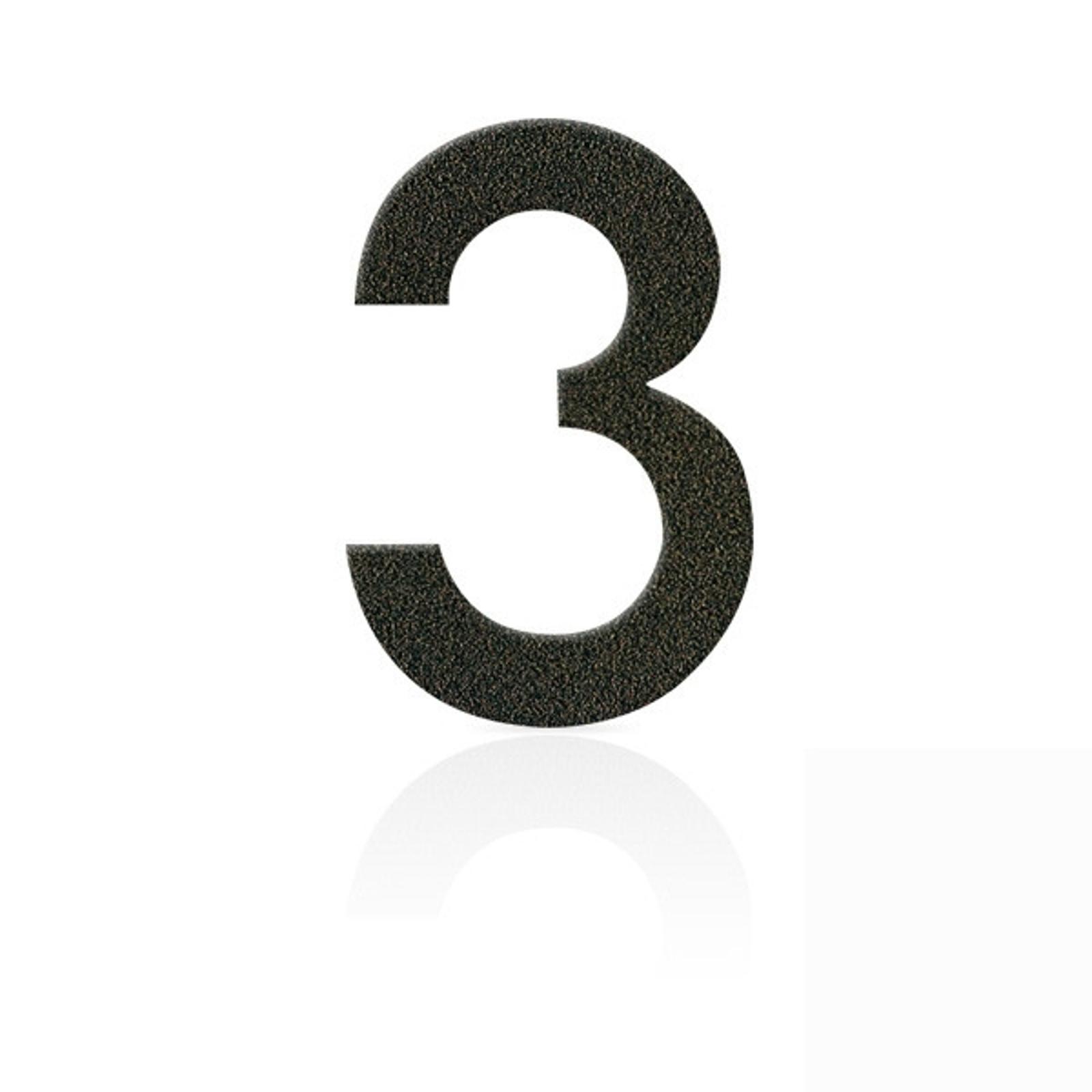 Produktové foto Heibi Nerezová domovní čísla číslice 3, hnědá mocca