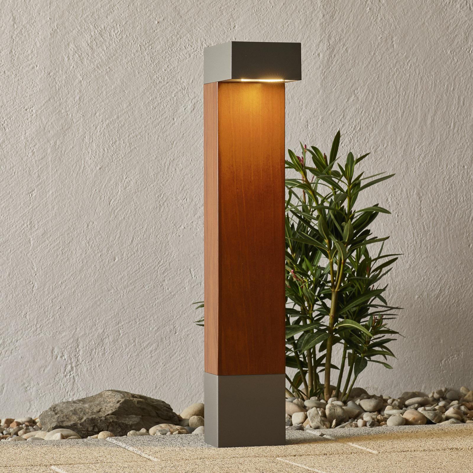 BEGA 84498 słupek ogrodowy LED, srebrny, kątowy