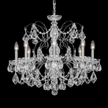 Schonbek Century lustre en cristal 8 lampes noir