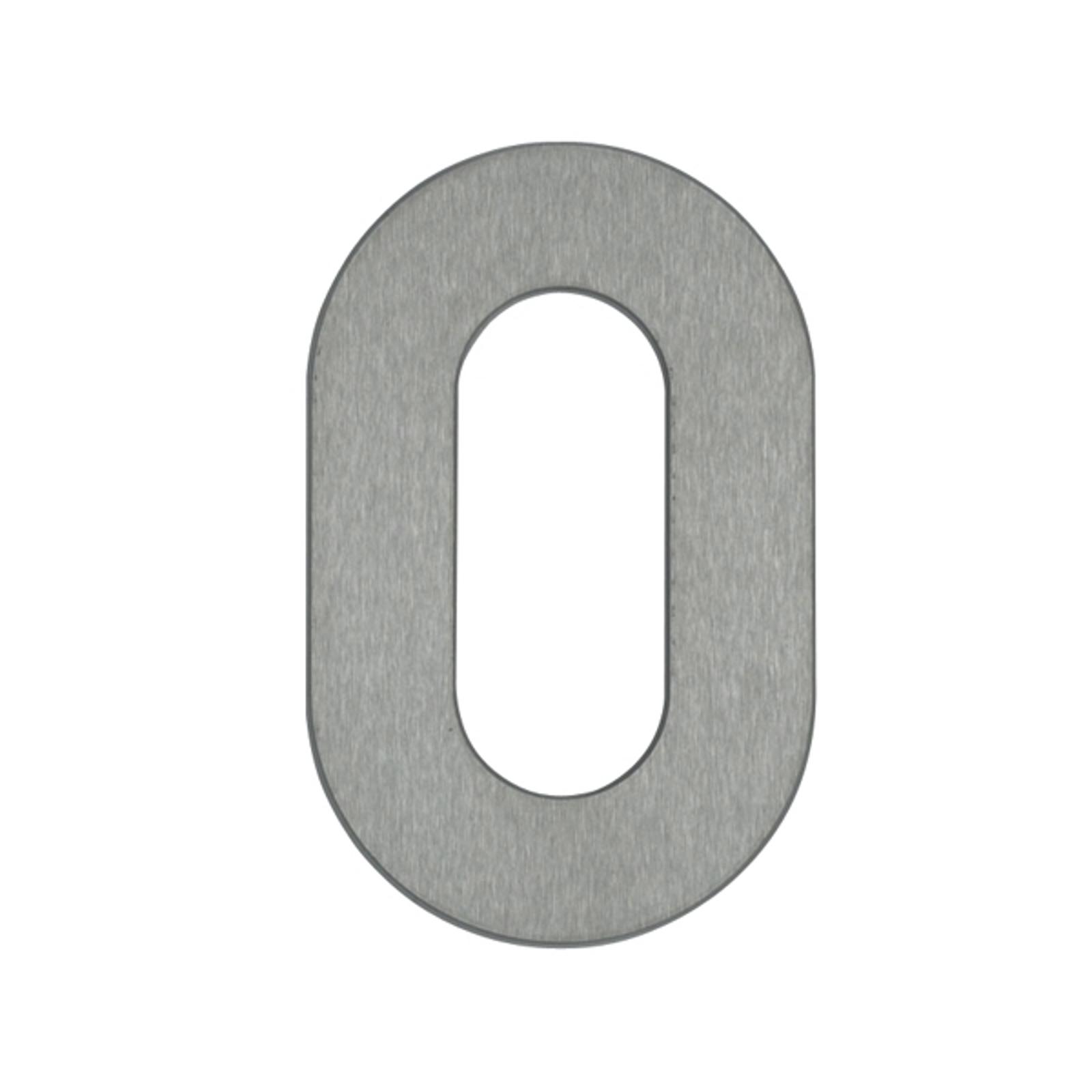 Huisnummer 0 - roestvrij staal