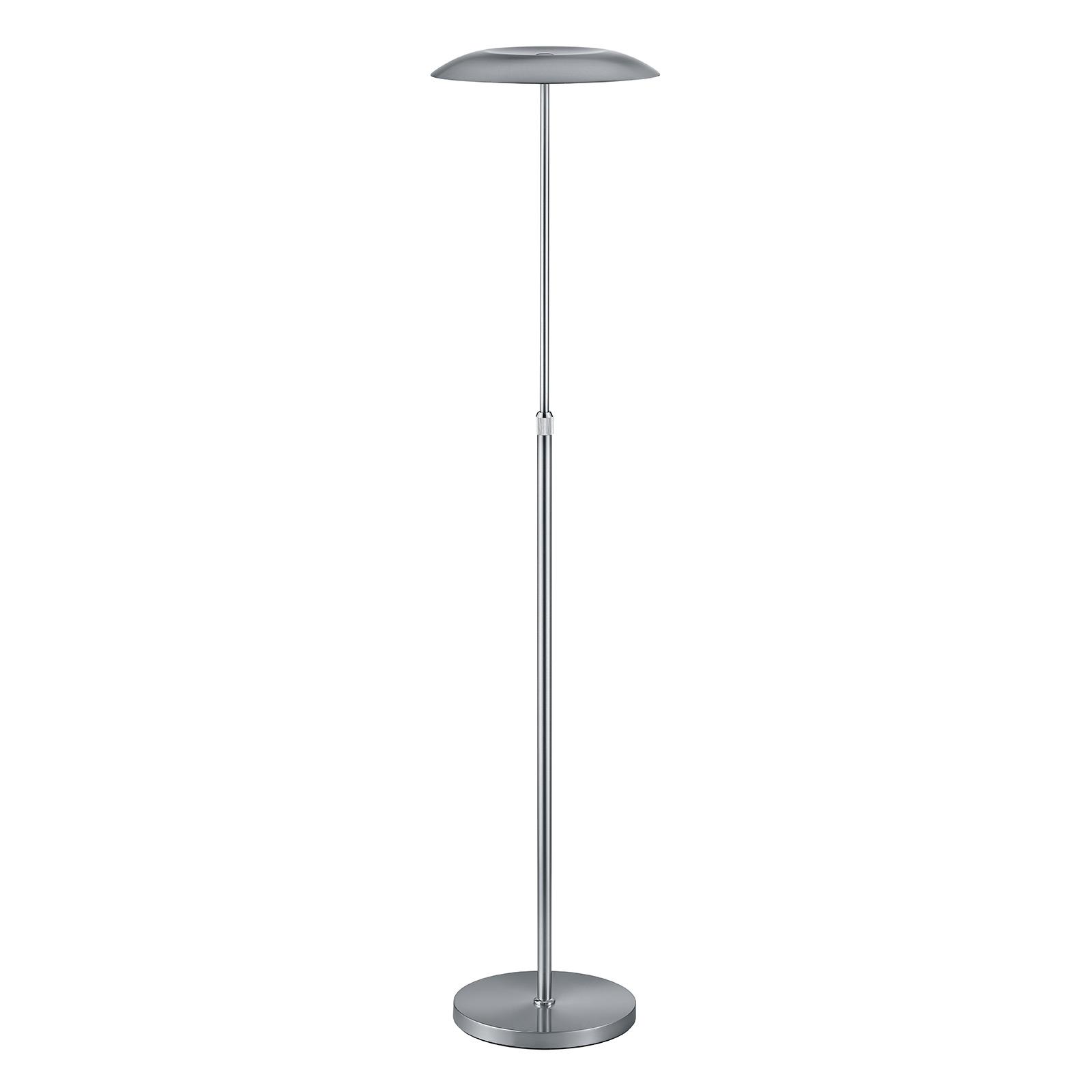 B-Leuchten Curling lampa stojąca LED nikiel matowa