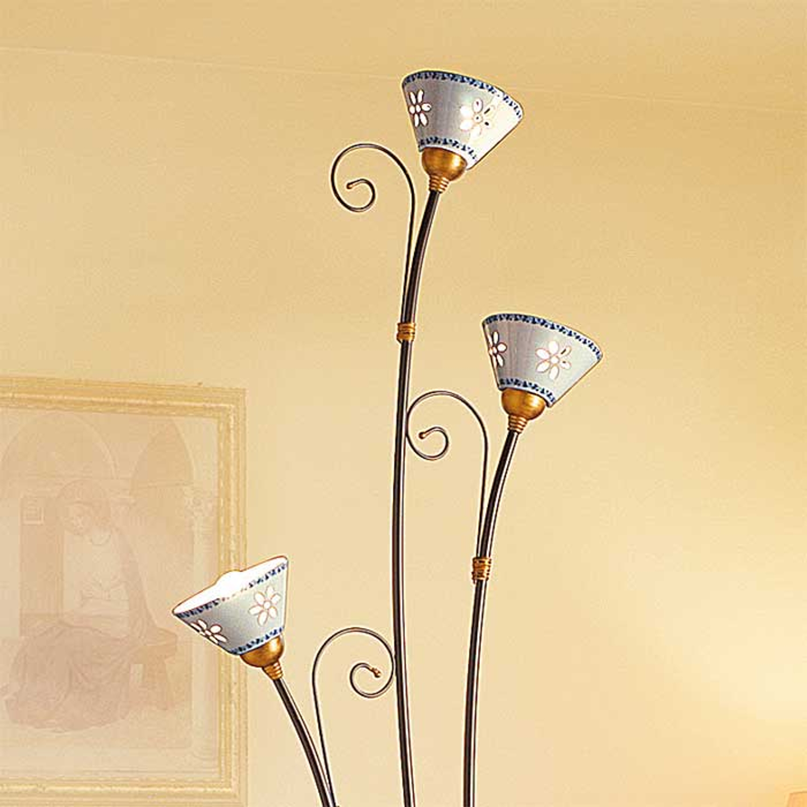 Lámpara de pie de 3 luces LIBERTY