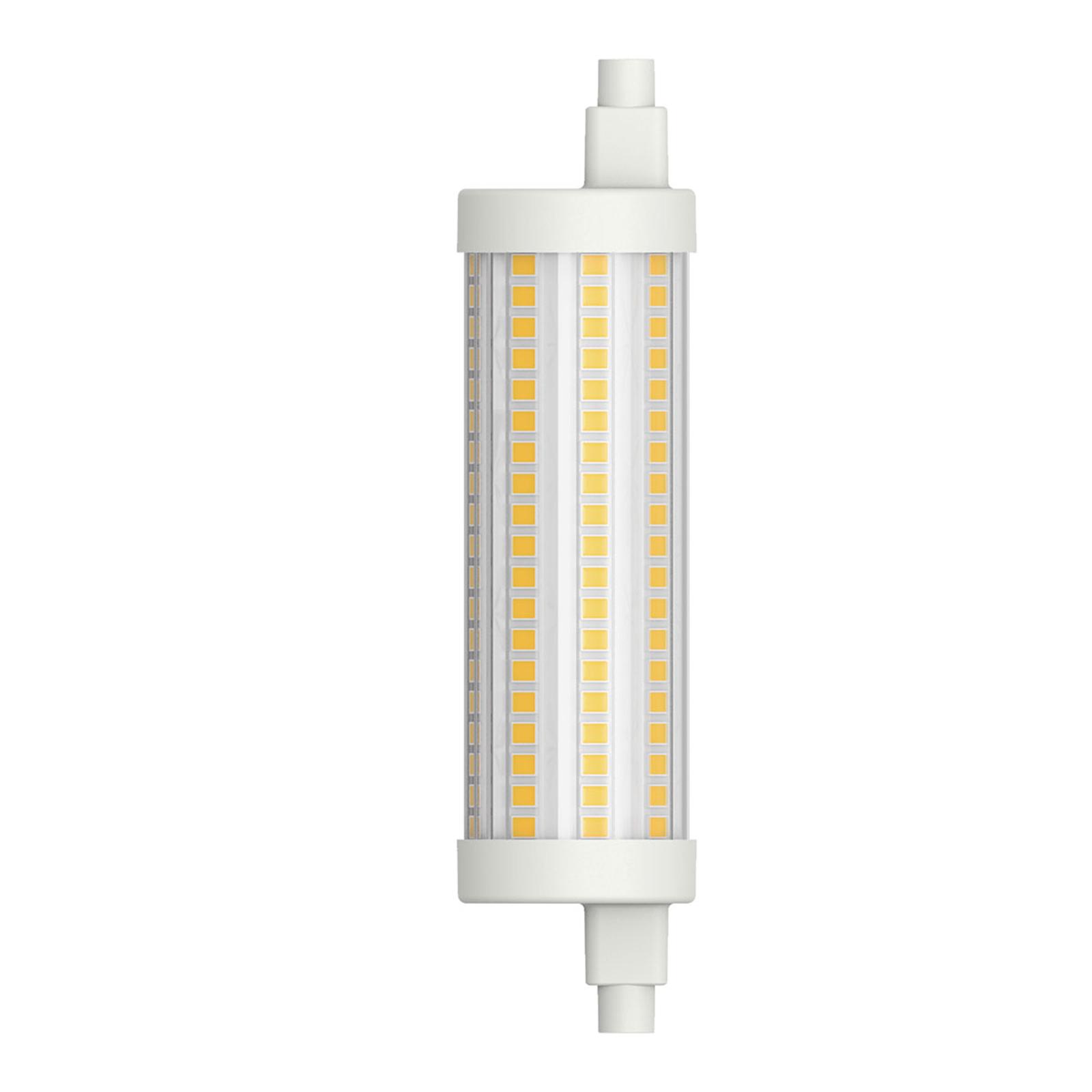LED tubolare R7s 117,6 mm 15W bianco caldo dimming