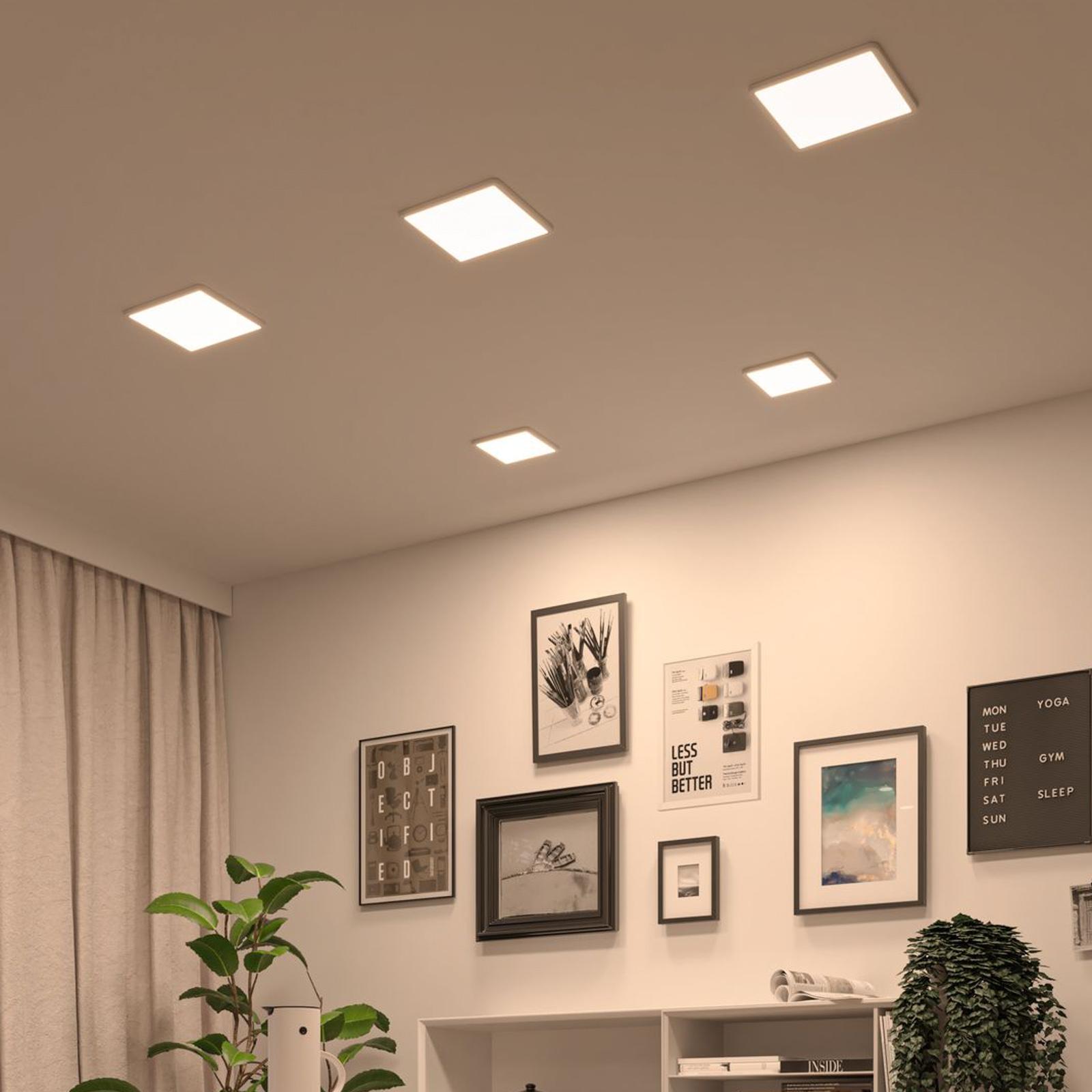 Paulmann LED-Panel Areo dimtowarm eckig weiß 23cm