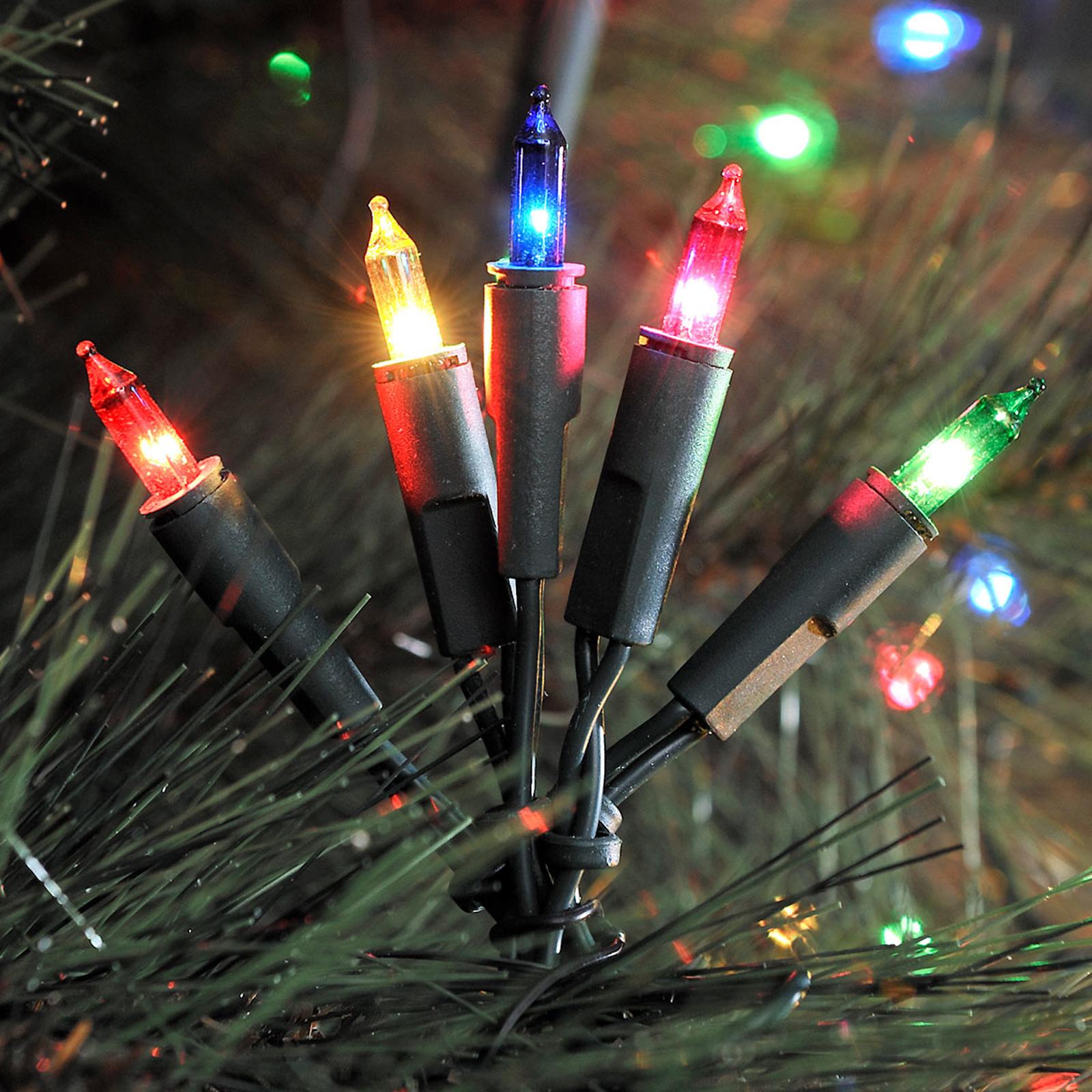 Bunte LED-Lichterkette, 10-flammig 2,85m