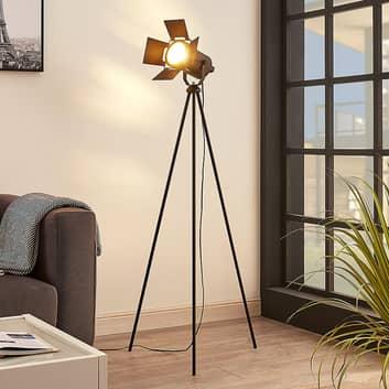 Lámpara de pie Devon con trípode en negro