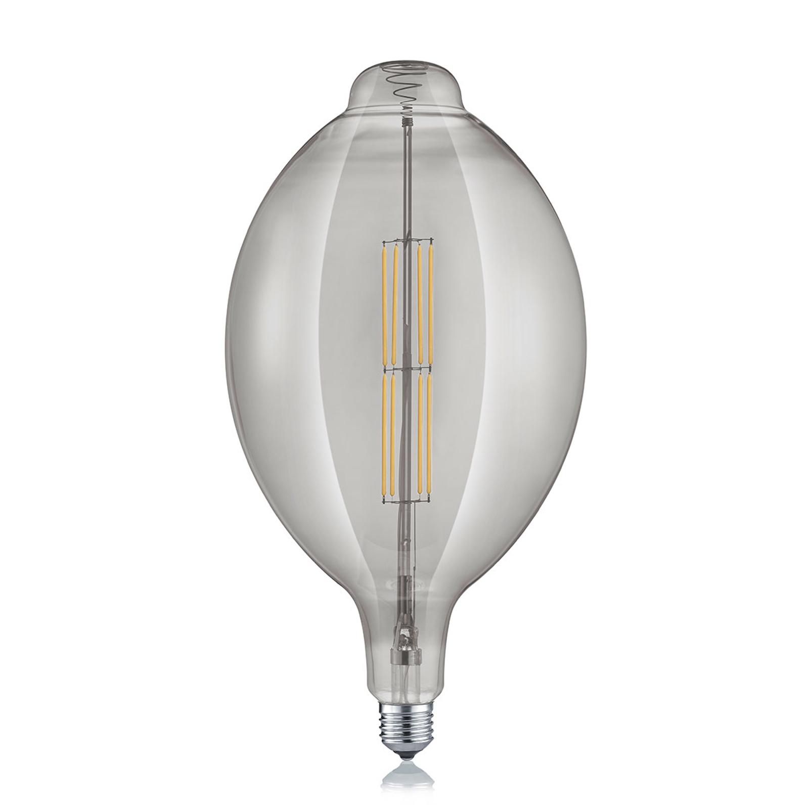 LED-Lampe E27 8W 2.700K lange Form rauchfarben