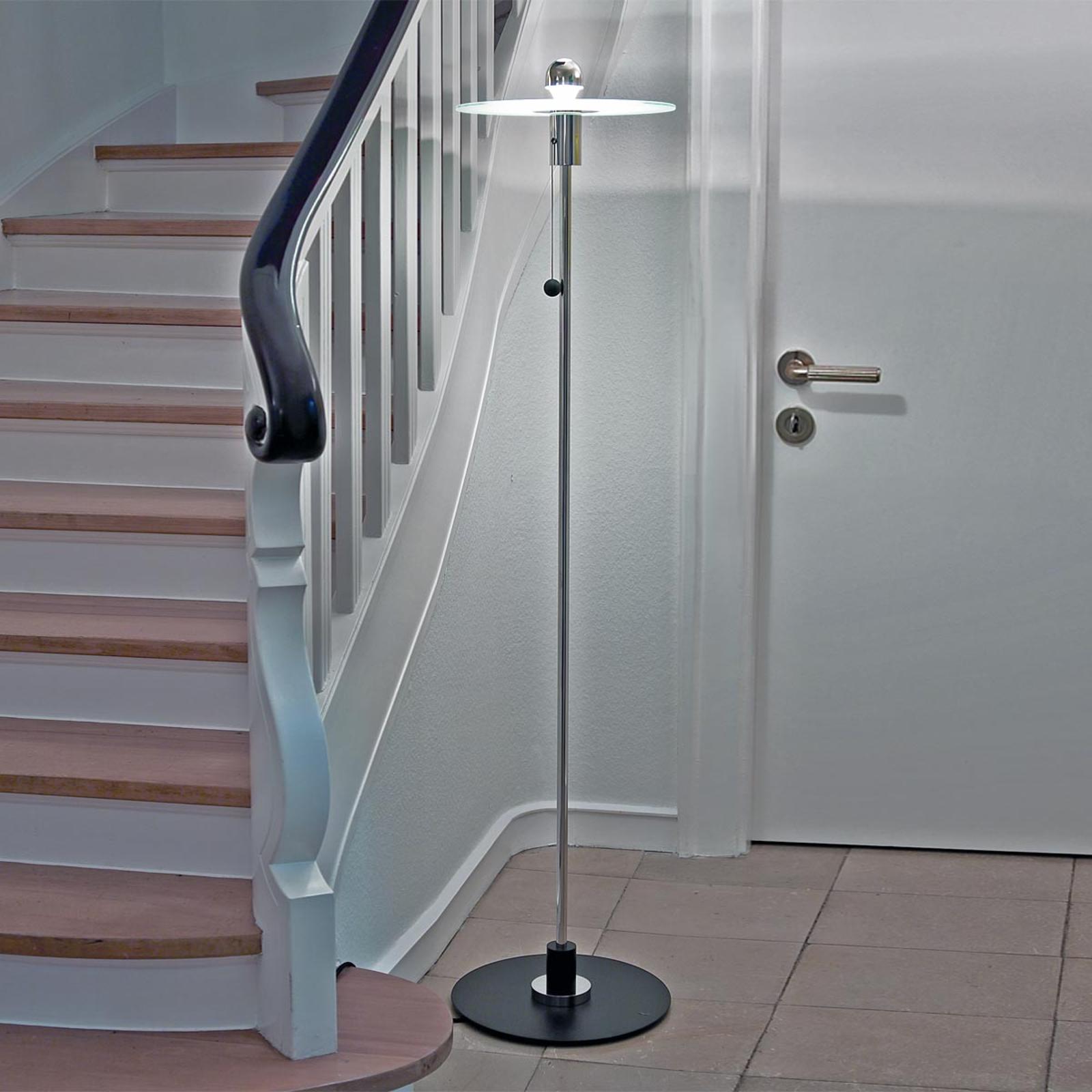 Original-like Bauhaus-vloerlamp van Gyula Pap