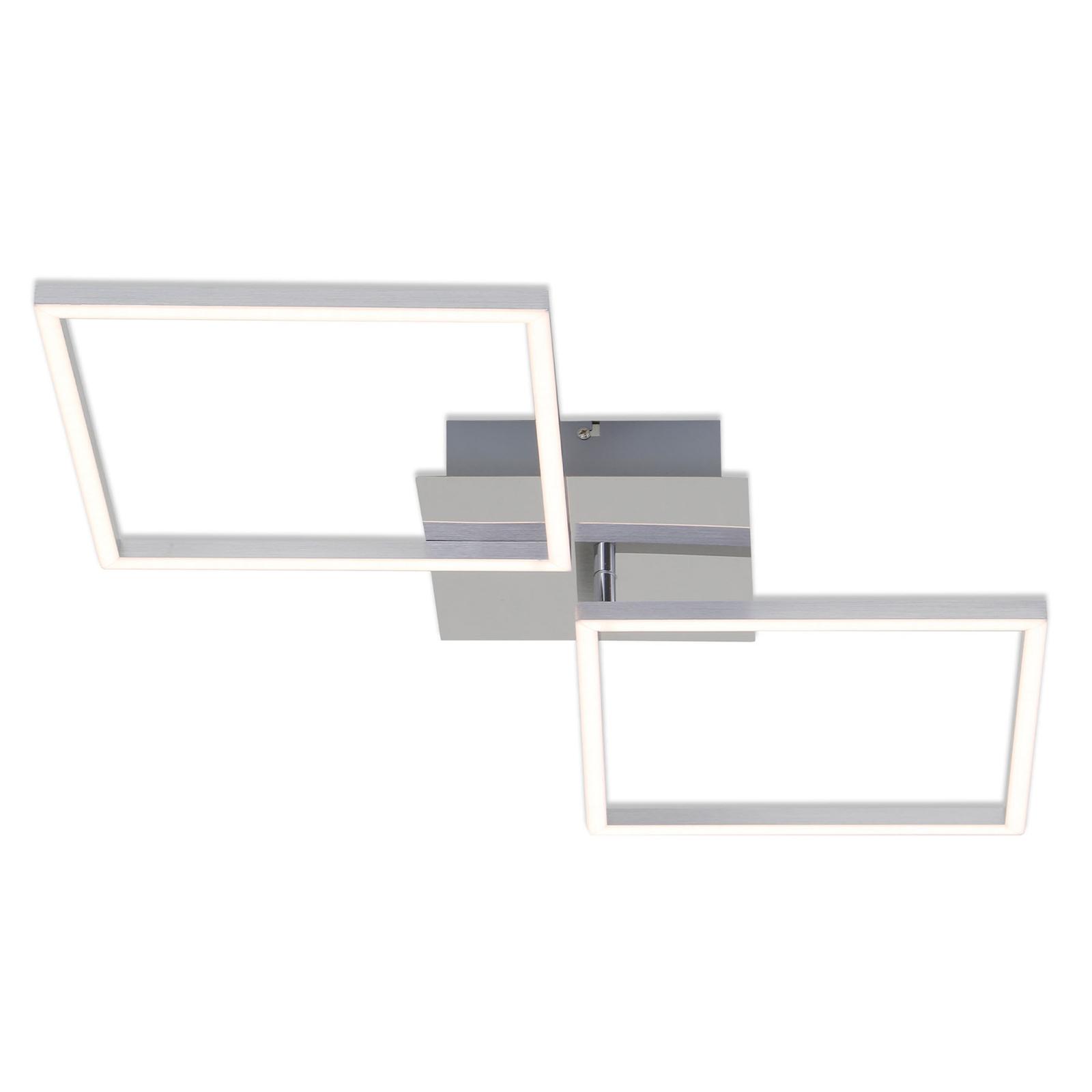 LED-Deckenlampe Frame, alu, 76x36cm