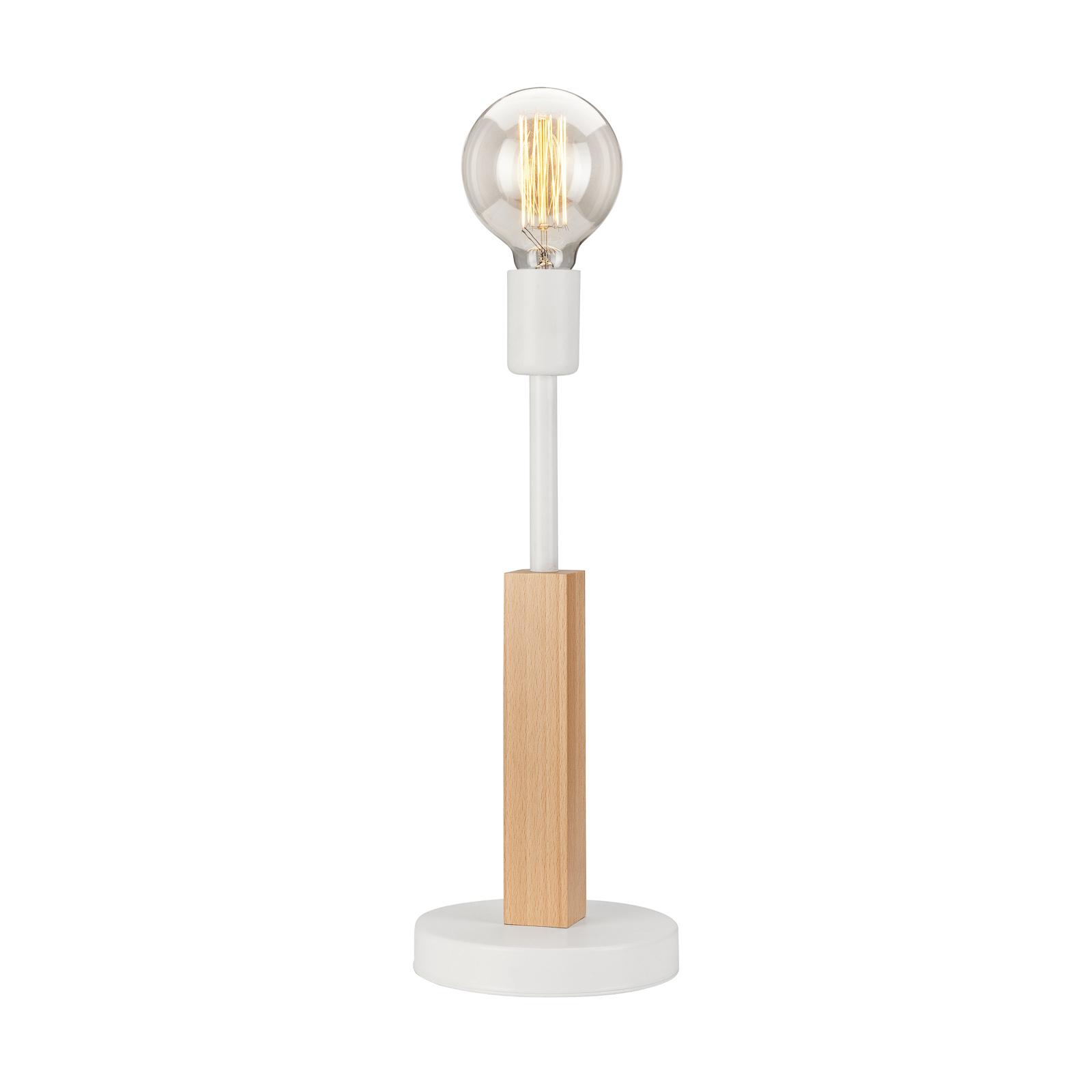 Lampa stołowa Parc z jedną oprawą, biała