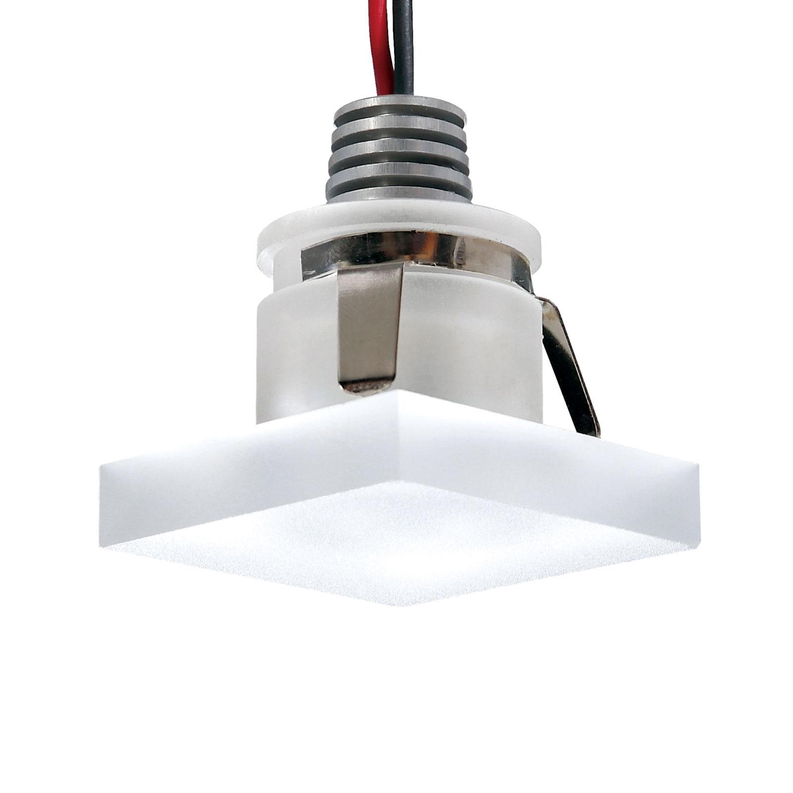 Foco empotrado LED Cristalin, angular, IP44