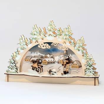 Joli arc lumineux LED Plaisir d'hiver à Seiffen
