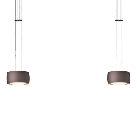 OLIGO Grace LED-pendellampe 2 lyskilder brun