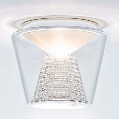 Lámpara LED de techo Annex, reflector de cristal
