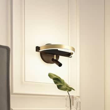 Lucande Matwei aplique LED, anillo, latón