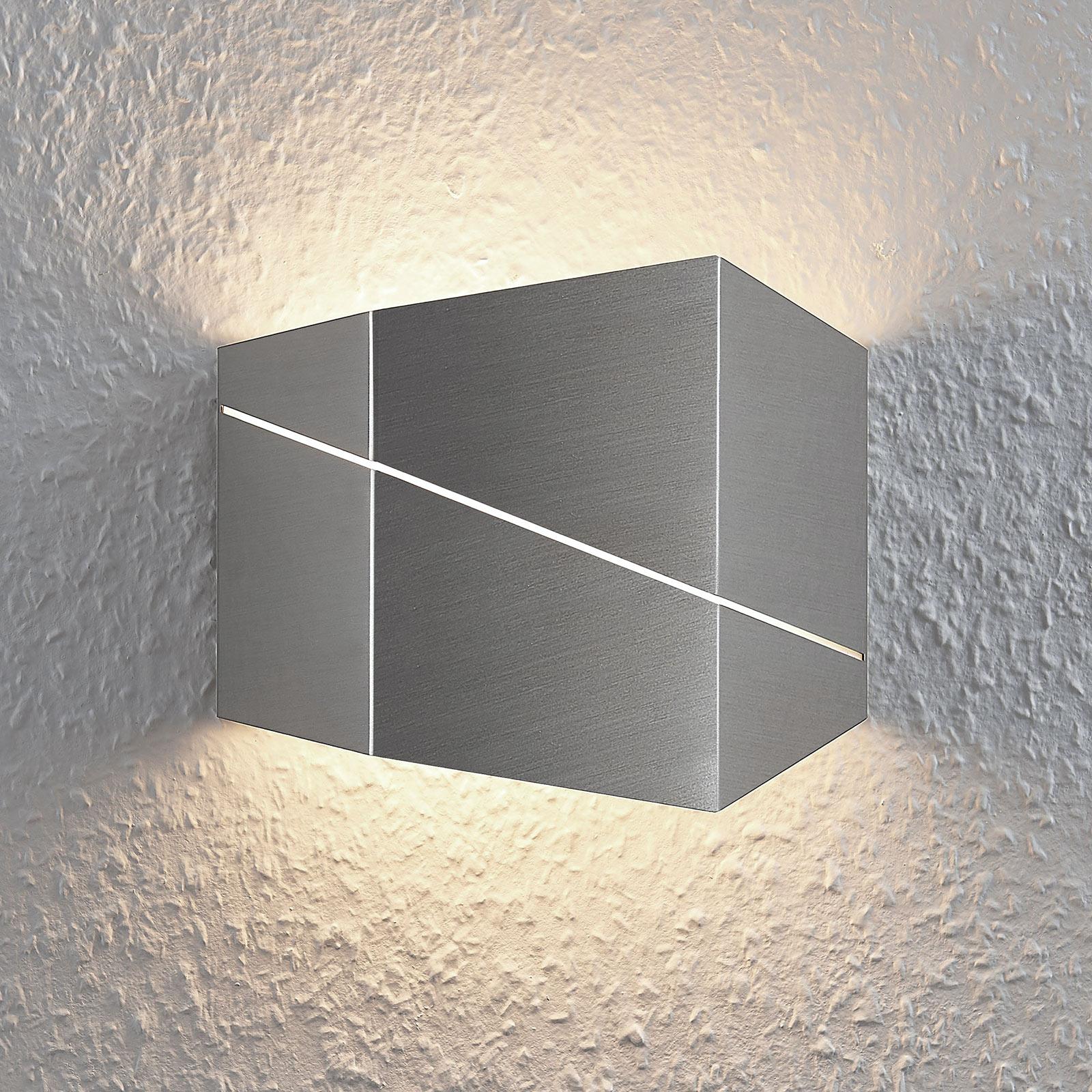 Nástěnné LED svítidlo Nikolae, 18cm, matný nikl