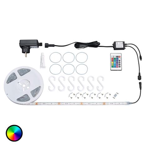 Strip LED RGB Ora da esterni, con telecomando