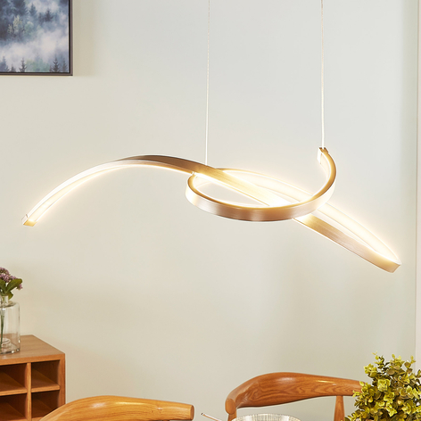 Lámpara colgante LED Dominykas con filigrana