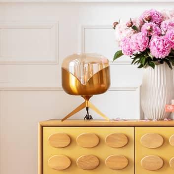 KARE Golden Goblet Ball lampe à poser, laiton