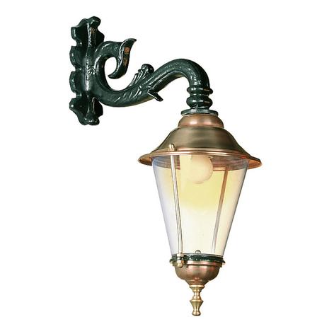 Hoorn - buitenwandlamp, fitting onder